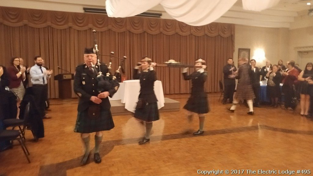 Robbie Burns Night 2017 - there goes the haggis...