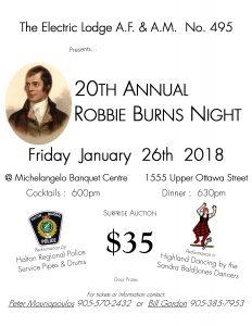 Robbie Burns 2018