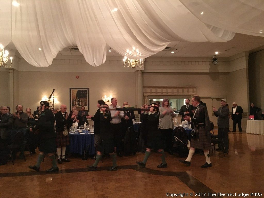 Robbie Burns Night 2017 - Bringing in the haggis