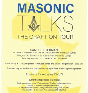 Masonic Talks poster