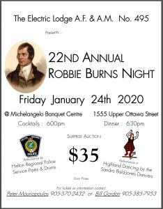 Robbie Burns Night 2020